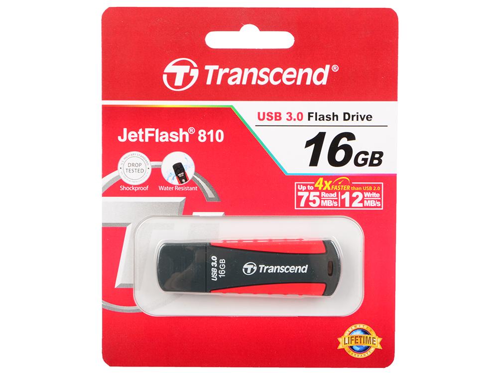 USB флешка Transcend Jetflash 810 16Gb Black (TS16GJF810) USB 3.0 / 75 МБ/cек / 12 МБ/cек