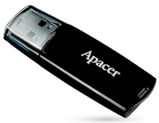 Внешний накопитель 32GB USB Drive USB 2.0 Apacer Handy Steno AH322 (AP32GAH322B-1) внешний накопитель 32gb usb drive