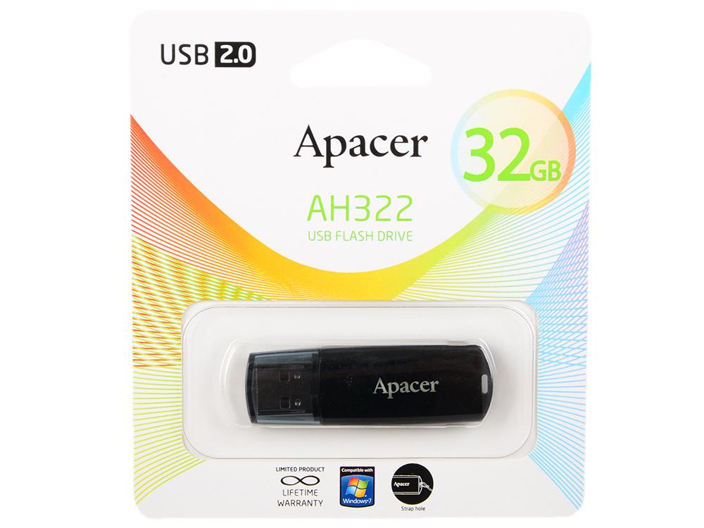 Внешний накопитель 32GB USB Drive USB 2.0 Apacer Handy Steno AH322 (AP32GAH322B-1) apacer ah 352 32gb usb 3 0