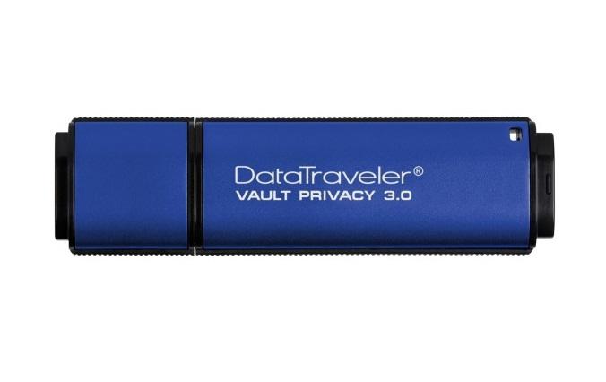 USB флешка Kingston DataTraveler Vault Privacy 4GB Blue (DTVP30/4GB) USB 3.1 / 80 МБ/cек / 12 МБ/cек