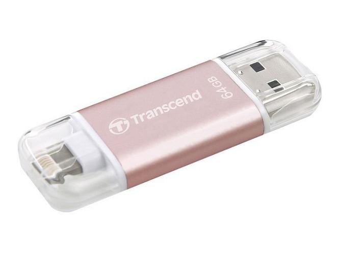 Внешний накопитель 64GB USB Drive  Transcend JetDrive Go 300 (TS64GJDG300R) флешка usb 128gb transcend jetdrive go 300 ts128gjdg300k черный