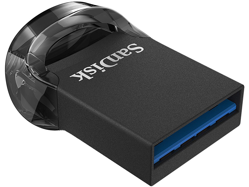 Внешний накопитель 64GB USB Drive (USB 3.1) Sandisk ULTRA FIT черный (SDCZ430-064G-G46) внешний накопитель 64gb