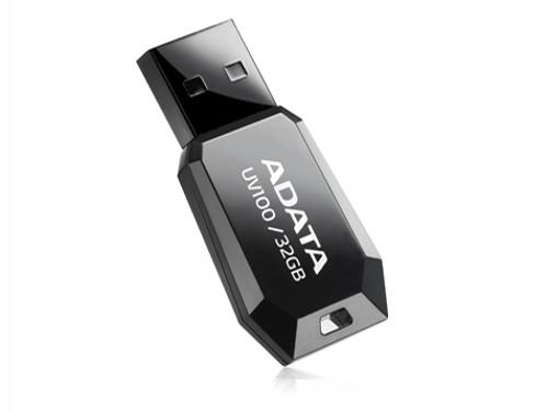 Внешний накопитель 32GB USB Drive  A-DATA UV100 черный (AUV100-32G-RBK) внешний накопитель 32gb usb drive