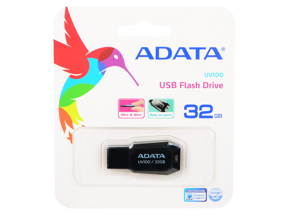 Внешний накопитель 32GB USB Drive (USB 2.0) A-DATA UV100 черный (AUV100-32G-RBK) genuine murray part cable drive 22 wbm