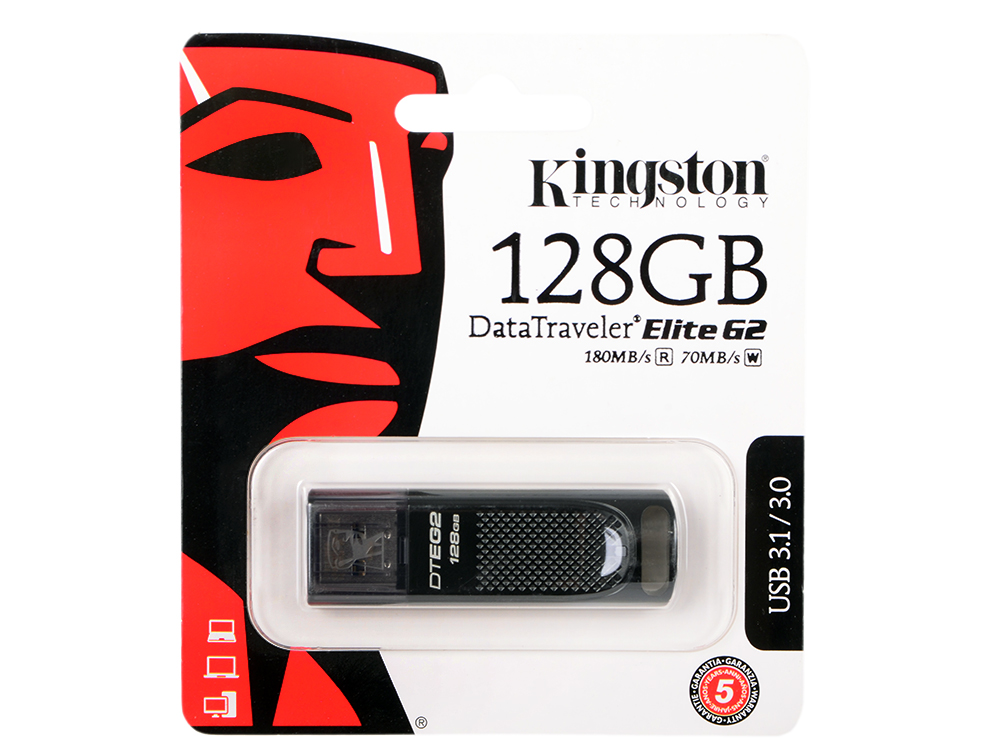 Флешка USB 128Gb Kingston DTEG2/128GB черный флешка usb 128gb photofast memoriescable u3 g3 mcg3u3r128gb