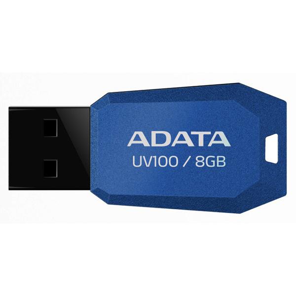 Внешний накопитель 8GB USB Drive ADATA UV100 синий AUV100-8G-RBL USB 2.0 usb flash drive 8gb kingston ironkey d300 usb 3 0 ikd300 8gb