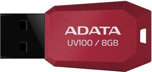 Внешний накопитель 8GB USB Drive ADATA UV100 красная AUV100-8G-RRD USB 2.0 внешний накопитель 8gb usb drive