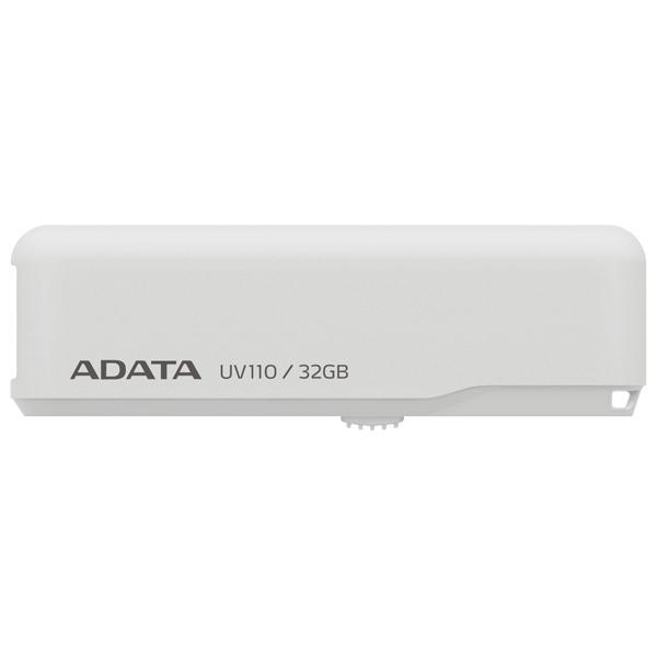 Внешний накопитель 32GB USB Drive ADATA USB 2.0 UV110 белая AUV110-32G-RWH USB 2.0 1setx original new pickup roller feed exit drive for fujitsu scansnap s300 s300m s1300 s1300i
