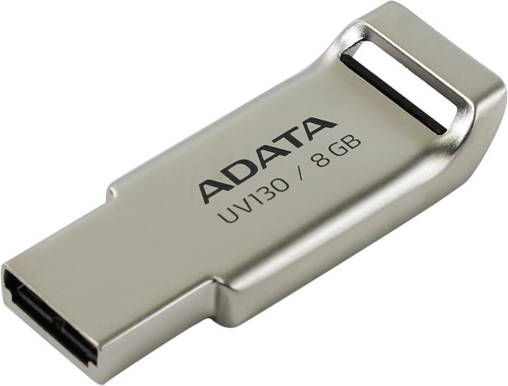 Внешний накопитель 8GB USB Drive ADATA USB 2.0 UV130 золотой мет. AUV130-8G-RGD 1setx original new pickup roller feed exit drive for fujitsu scansnap s300 s300m s1300 s1300i