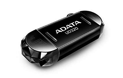 Внешний накопитель 32GB USB Drive ADATA OTG USB 2.0 UD320 +интерфейс micro USB черная AUD320-32G-RBK adata s805 32gb gray