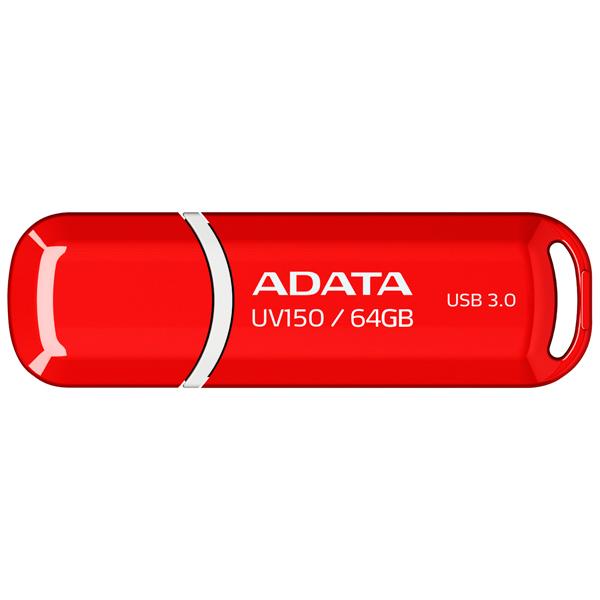 Внешний накопитель 64GB USB Drive ADATA USB 3.1 UV150 красная 90/20 МБ/с AUV150-64G-RRD USB 3.1 / 90 МБ/cек / 20 МБ/cек цена и фото