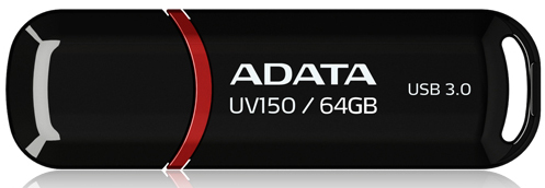 Внешний накопитель 64GB USB Drive ADATA USB 3.1 UV150 черная 90/20 МБ/с AUV150-64G-RBK USB 3.1 / 90 МБ/cек / 20 МБ/cек цены онлайн