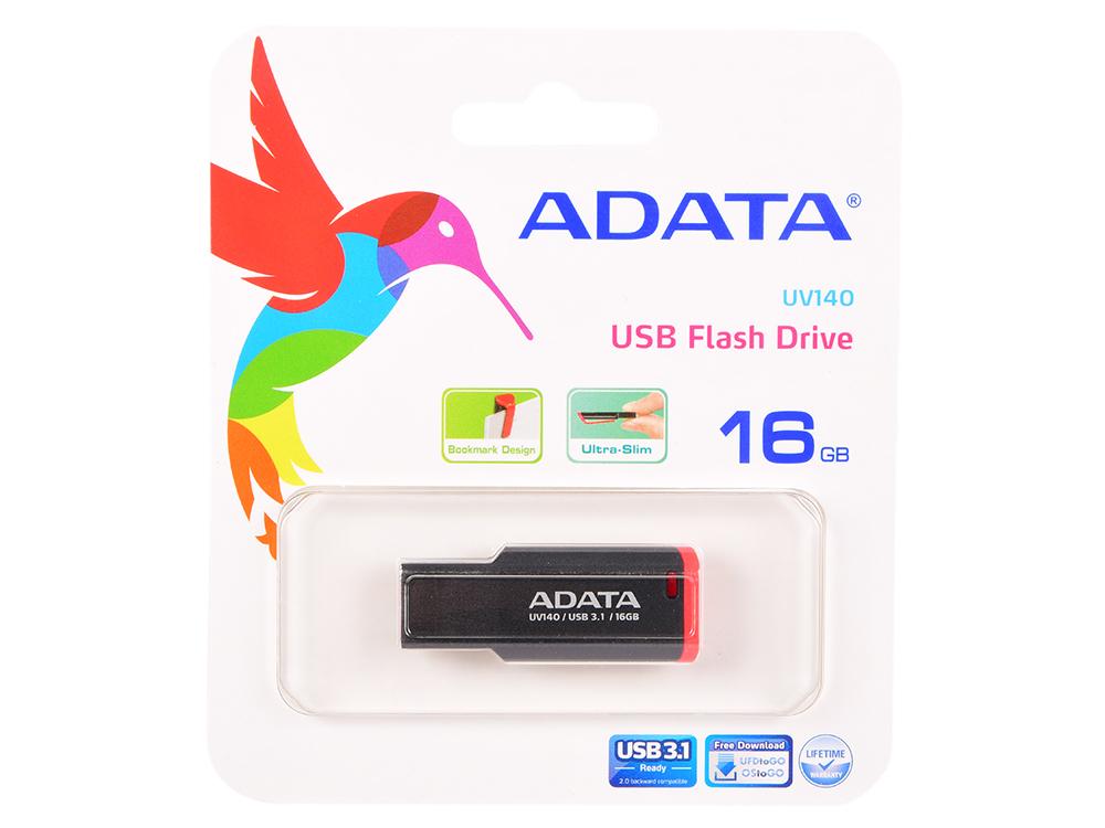USB флешка A-Data UV140 16GB Black Red (AUV140-16G-RKD) USB 3.0 usb flash drive 16gb a data uv140 usb 3 0 black blue auv140 16g rbe