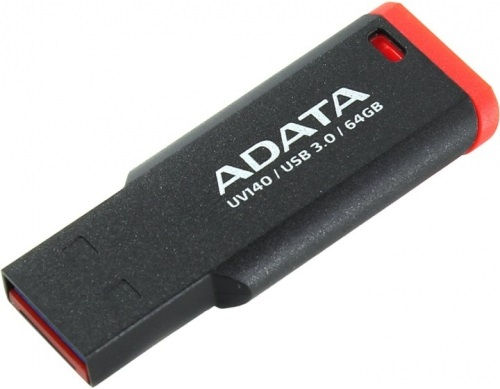 USB флешка A-Data UV140 64GB Black Red (AUV140-64G-RKD) USB 3.0 / 90 МБ/cек / 40 МБ/cек gc x81005g5s