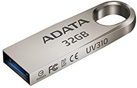 USB флешка A-Data UV310 32GB Gold (AUV310-32G-RGD) USB 3.1 флешка usb 16gb a data uv310 usb 3 0 auv310 16g rgd золотистый