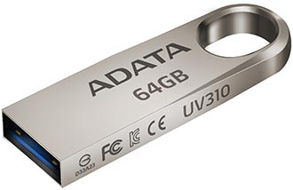 USB флешка A-Data UV310 64GB Gold (AUV310-64G-RGD) USB 3.1 50pcs micro usb 3 0 male to usb c usb 3 1 type c female extension data cable for macbook tablet 10cm by fedex