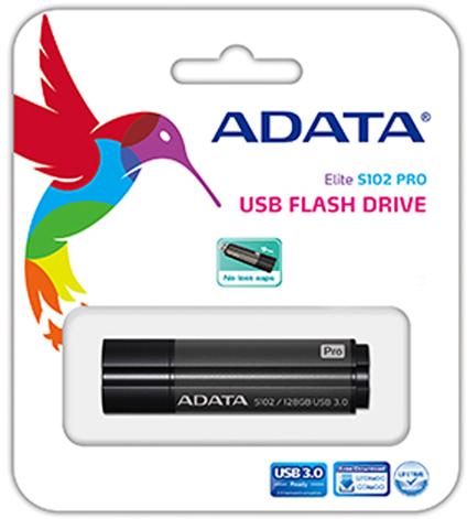 цена на USB флешка A-Data S102P Pro 32GB Grey (AS102P-32G-RGY) USB 3.0 / 100 МБ/cек / 50 МБ/cек