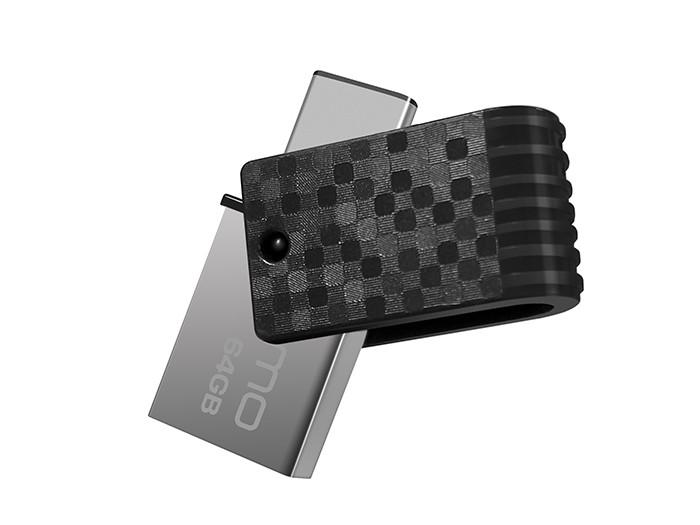 Внешний накопитель 64GB USB Drive  Qumo Hybrid 2 c поддержкой OTG через USB Type-C и РС через USB. (QM64GUD3-Hyb2) 3 in 1 16gb 32gb 64gb usb type c with micro usb otg memory stick with usb type c flash drive for macbook pro android smartphones