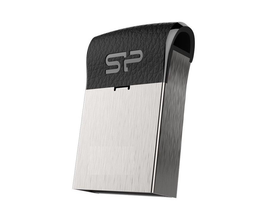 USB флешка Silicon Power Touch T35 16GB Black Silver (SP016GBUF2T35V1K) USB 2.0 флешка usb 16gb silicon power mobile x20 sp016gbuf2x20v1k серебристый