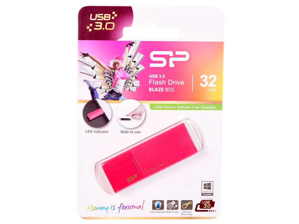 USB флешка Silicon Power Blaze B05 32GB Black (SP032GBUF3B05V1H) USB 2.0