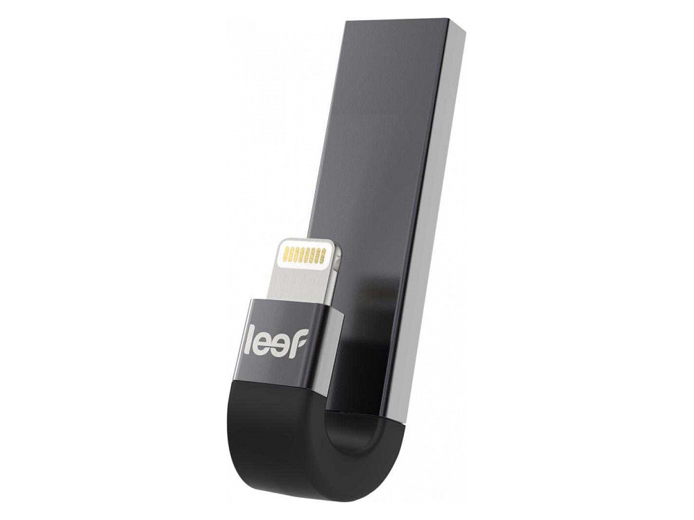Внешний накопитель 32GB USB Drive Leef iBridge 3 OTG USB 3.1 gen.1 & Apple Lightning (LIB3CAKK032R1) черный флш диск дл apple leef ibridge 32gb lib000kk032r6