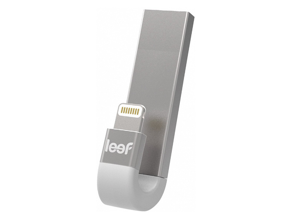 Внешний накопитель 64GB USB Drive Leef iBridge 3 OTG USB 3.1 gen.1 & Apple Lightning (LIB300SW064R1) серебристый флш диск дл apple leef ibridge 32gb lib000kk032r6