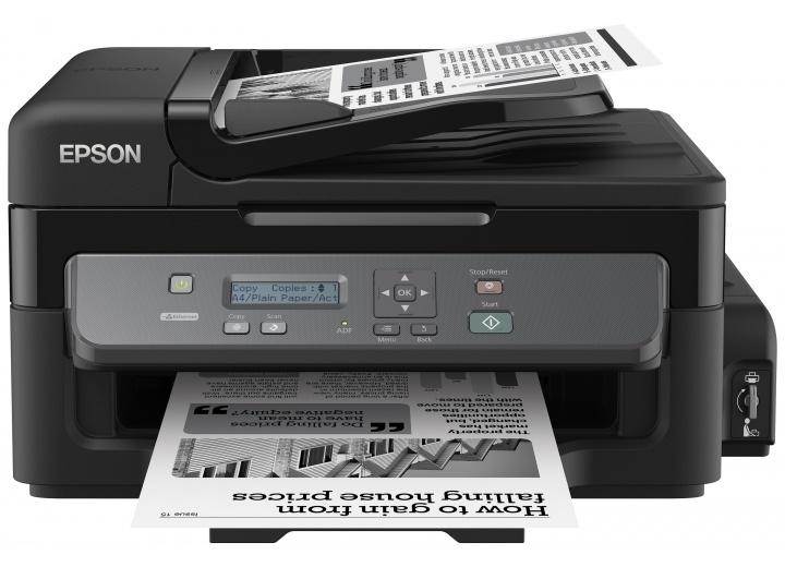 МФУ EPSON M200 (стр.+сканер/копир, Монохромная Фабрика Печати, 34ppm, 1440dpi, струйный, A4, USB 2.0, LAN) принтер струйный epson l312