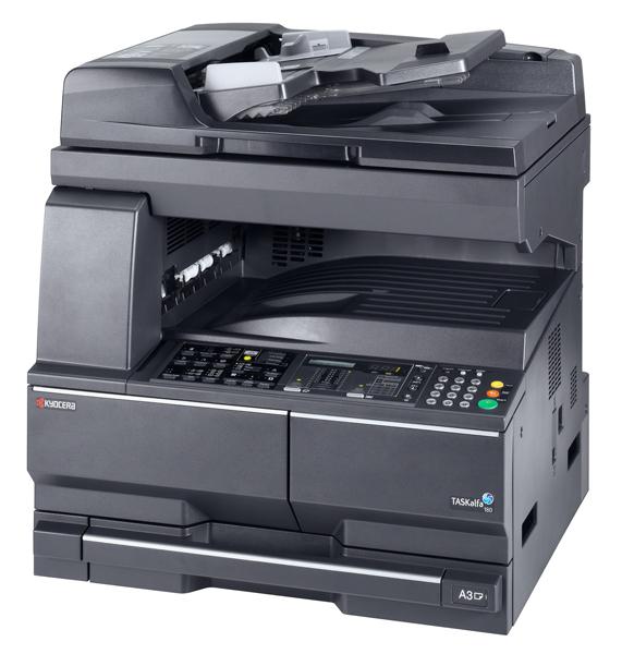 Копир Kyocera TASKalfa 181 (копир, принтер, LAN, 18 ppm, A3, стартовый комплект 3000стр. без крышки)