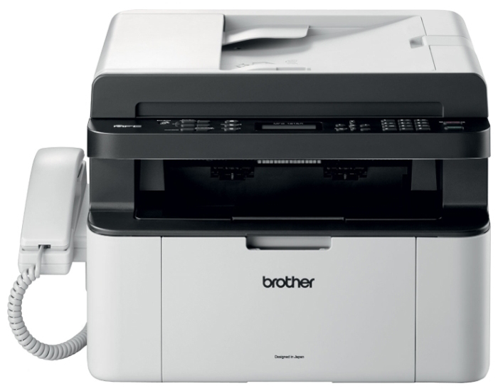 МФУ лазерное Brother MFC-1815R принтер/сканер/копир/факс(+трубка), A4, 20стр/мин, ADF, USB мфу лазерное brother mfc l2700dwr серый