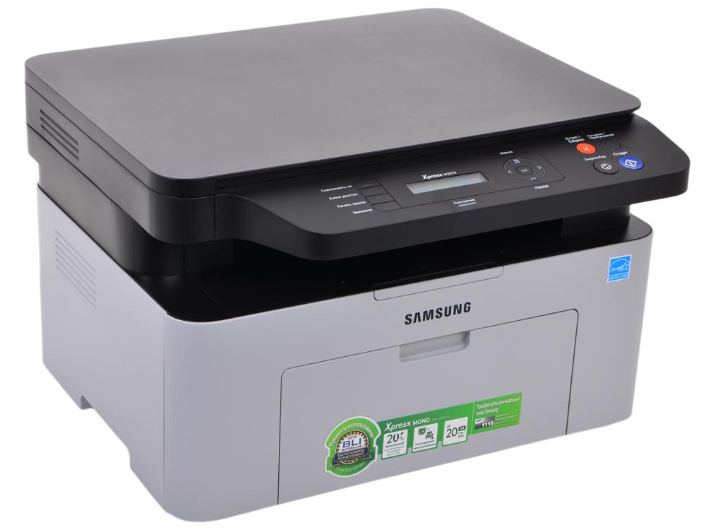 МФУ Samsung SL-M2070 монохромное/лазерное A4, 20 стр/мин, 150 листов, USB, 128MB мфу pantum m6500w монохромное лазерное a4 22 стр мин 150 листов gdi usb wifi 128mb