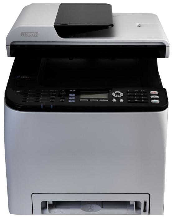 МФУ Ricoh Aficio SP C250SF (копир-принтер цветн.-сканер, ADF, duplex, 20стр./мин., 2400x600dpi, LAN, WiFi, A4)