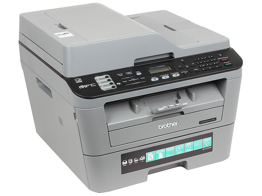 МФУ Brother MFC-L2700DWR лазерный, принтер/ сканер/ копир/ факс, A4, 26стр/мин, дуплекс, ADF, 32Мб, USB, LAN, WiFi мфу лазерное brother mfc l2700dwr серый