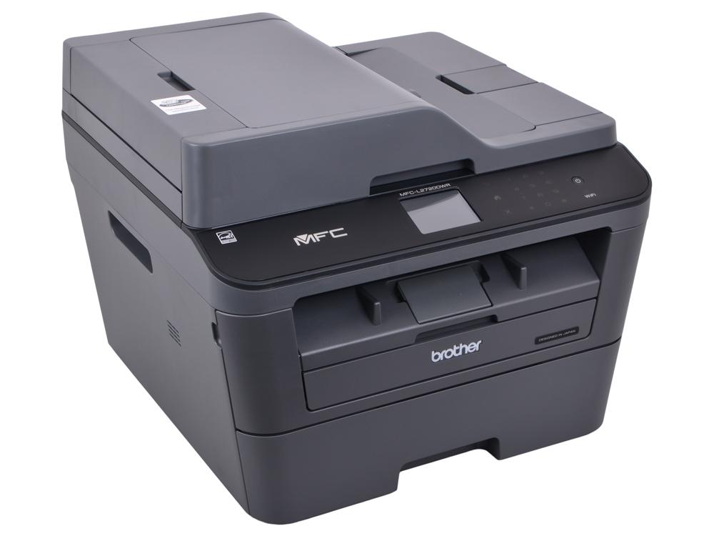 МФУ Brother MFC-L2720DWR лазерный, принтер/ сканер/ копир/ факс, A4, 30стр/мин, дуплекс, ADF, 64Мб, USB, LAN, WiFi мфу лазерный brother mfc l2700dwr a4 duplex