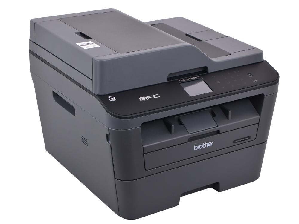 МФУ лазерное Brother MFC-L2740DWR, лазерный, принтер/ сканер/ копир/ факс, A4, 30стр/мин, дуплекс, ADF, двухст. однопр. сканер, 64Мб, USB, LAN, WiFi мфу лазерное brother mfc l2700dwr серый