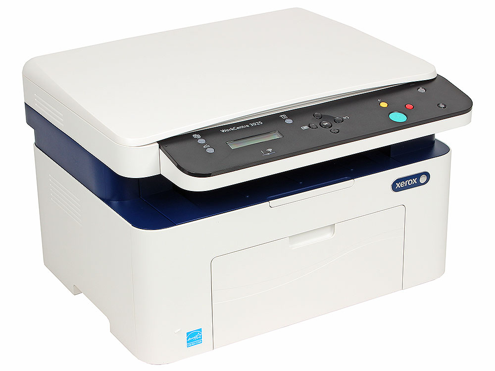 МФУ Xerox WorkCentre 3025BI (A4, лазерный принтер/сканер/копир, 20 стр/мин, до 15K стр/мес, 128MB, GDI, USB, Wi-Fi) мфу ricoh sp 150suw копир принтер сканер wi fi 22стр мин 600x600dpi a4