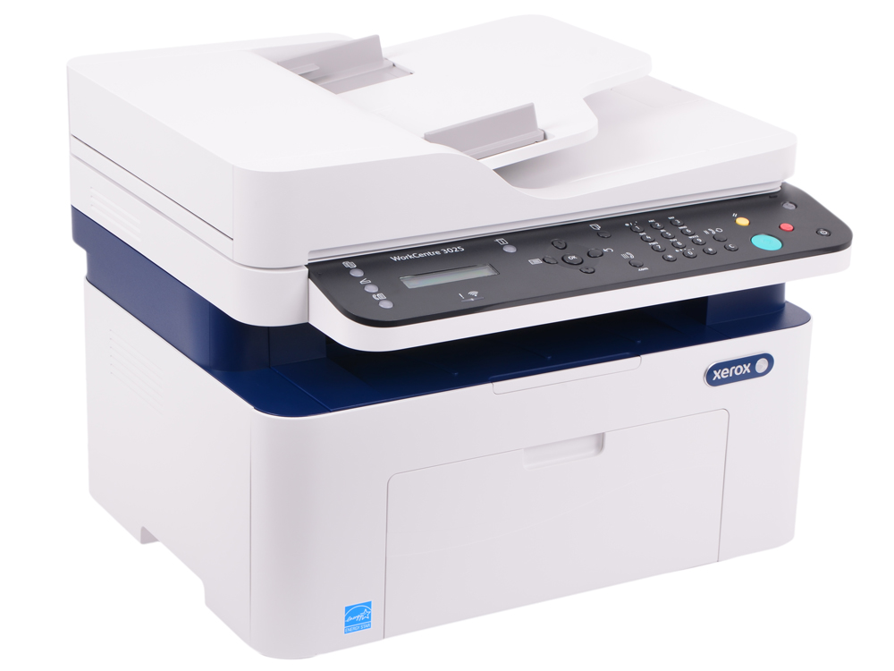 МФУ Xerox WorkCentre 3025NI (A4, лазерный принтер/сканер/копир/факс, 20 стр/мин, до 15K стр/мес, 128MB, GDI, USB, Network, Wi-fi) мфу canon maxify mb5440 струйный принтер сканер копир факс dadf wi fi