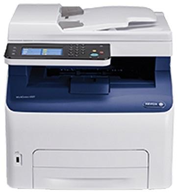 МФУ Xerox WorkCentre 6027NI (A4, светодиодный цветной принтер/сканер/копир, 18 стр/мин, до 30K стр/мес, 512MB, PostScript 3 compatible, PCL5c/6,USB,