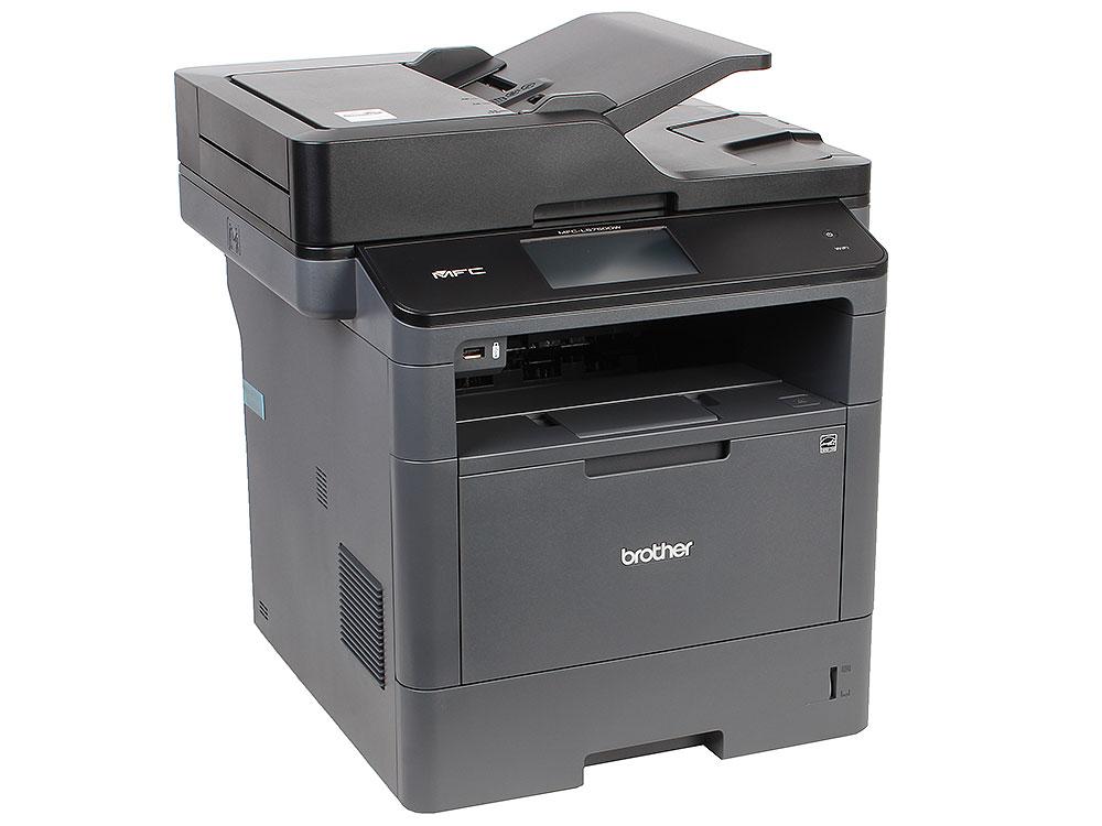 МФУ лазерное Brother MFC-L5750DW принтер/сканер/копир/факс, A4, 40стр/мин, дуплекс, DADF, 256Мб, USB, LAN, WiFi мфу лазерное brother mfc l2700dwr серый