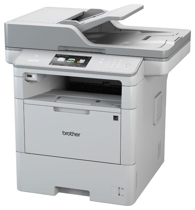 МФУ лазерное Brother DCP-L6600DW принтер/сканер/копир, A4, 46стр/мин, дуплекс, ADF, 512Мб, USB, LAN, WiFi, NFC мфу лазерное brother dcp 1510r