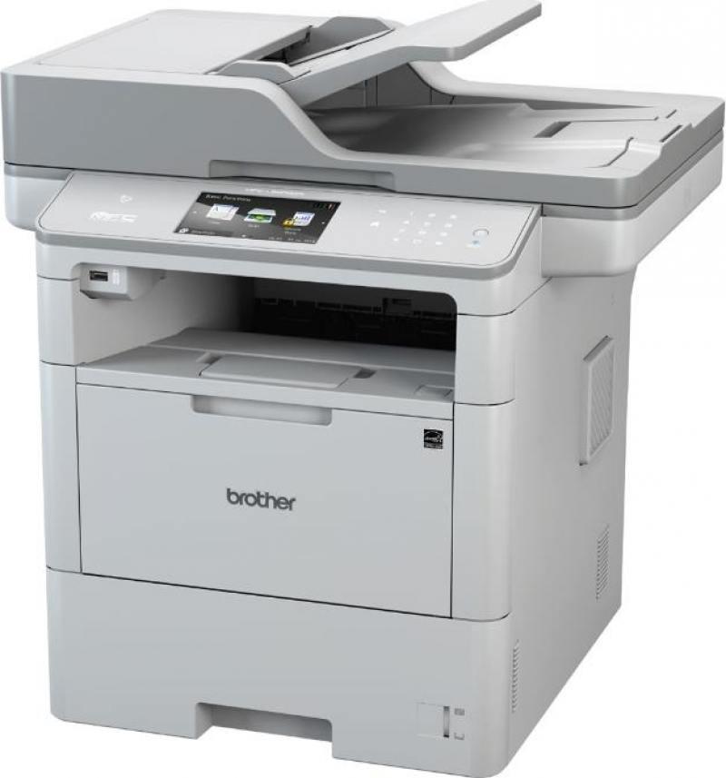 МФУ лазерное Brother MFC-L6900DW принтер/сканер/копир/факс, A4, 50стр/мин, дуплекс, ADF, 1Гб, USB, LAN, WiFi, NFC лазерное мфу brother mfc l5700dn