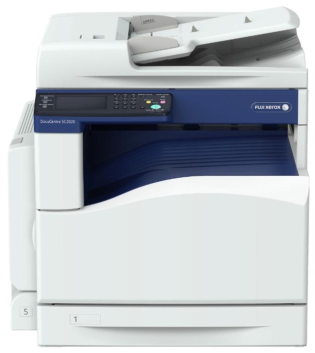 МФУ Xerox DocuCentre SC2020V/U цветное/светодиодное A3, 20 стр/мин, 350 листов + 110 листов, Fax, USB, Ethernet, duplex, 512MB мфу xerox workcentre wc5022dn a3 duplex net 5022v u 428418 лазерный белый синий