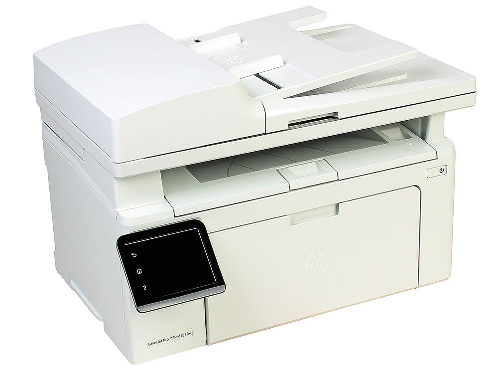 МФУ HP LaserJet Pro M132fw RU принтер/сканер/копир/факс, A4, ADF, 22 стр/мин, 256Мб, USB, LAN, WiFi (замена CZ183A M127fw)