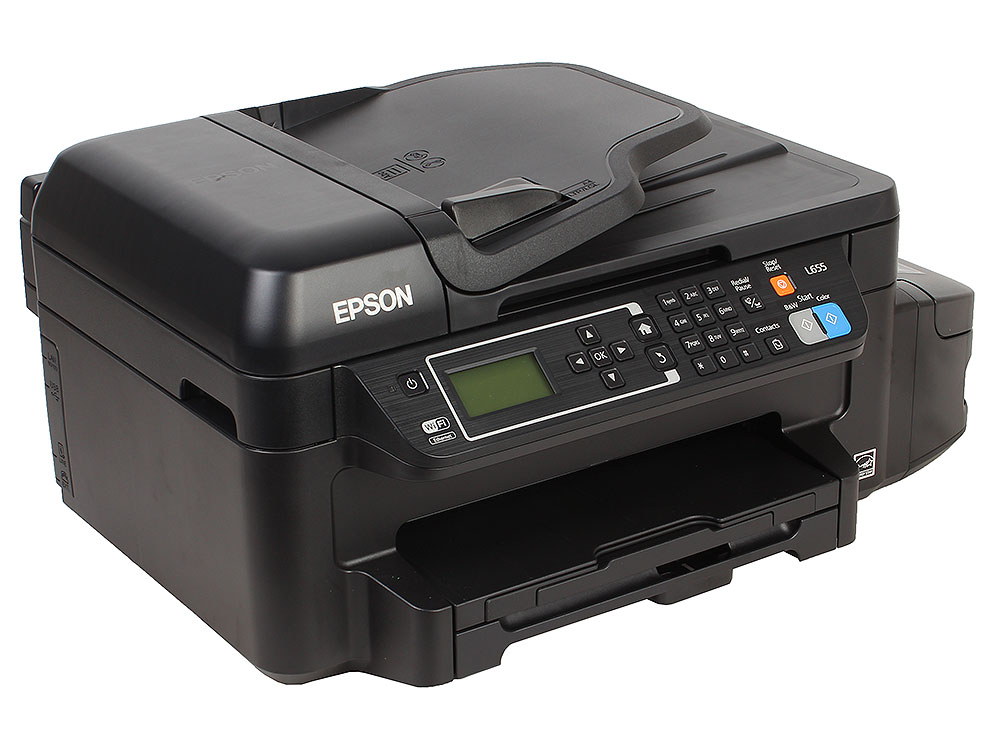 МФУ EPSON L655 (стр.+сканер/ копир/факс, Фабрика Печати) мфу epson l1455 c11cf49403