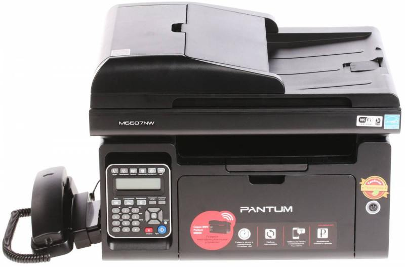 МФУ Pantum M6607NW монохромное/лазерное A4, 22 стр/мин, 150 листов + 50 листов, Fax, USB, Ethernet, WiFi, 256MB pantum m6500 black мфу лазерное