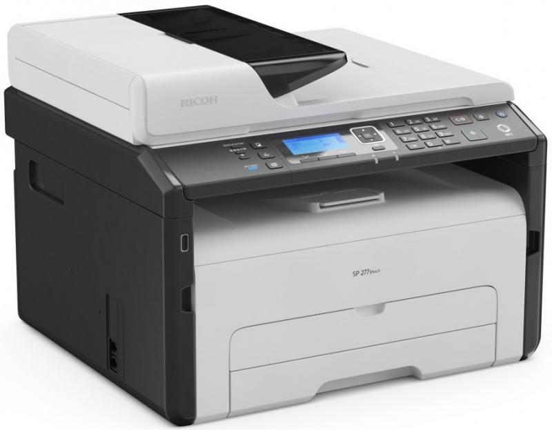 МФУ Ricoh SP 277SNwX <картридж 2600стр.> (копир-принтер-сканер, ADF, 23стр./мин., 1200x600dpi, LAN, WiFi, NFC, A4)