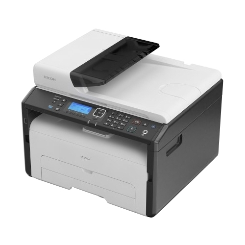 МФУ Ricoh SP 277SFNwX (картридж 2600стр.) (копир-принтер-сканер-факс, ADF, 23стр./мин., 1200x600dpi, LAN, WiFi, NFC, A4)