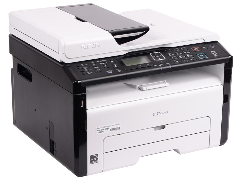 МФУ Ricoh SP 277SFNwX <картридж 2600стр.> (копир-принтер-сканер-факс, ADF, 23стр./мин., 1200x600dpi, LAN, WiFi, NFC, A4)