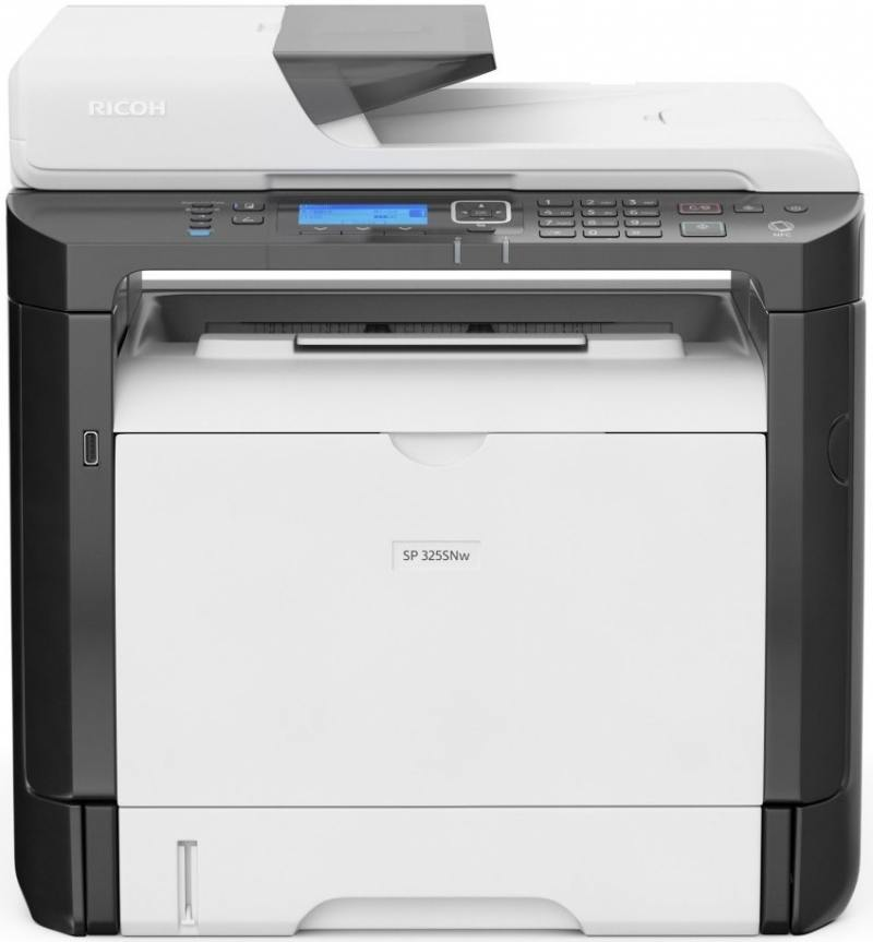 МФУ Ricoh SP 325SNw A4, 28 стр/мин, 300 листов, USB, Ethernet, Wi-Fi, 128MB лазерное мфу ricoh aficio sp 325snw