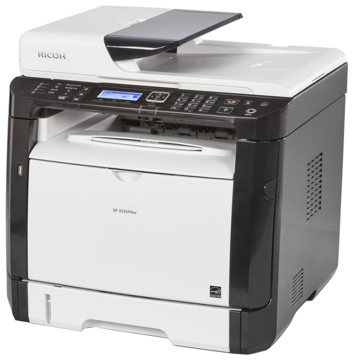 МФУ Ricoh SP 325SFNw A4, 28 стр/мин, 300 листов, Fax, USB, Ethernet, Wi-Fi, 128MB лазерное мфу ricoh aficio sp 325sfnw