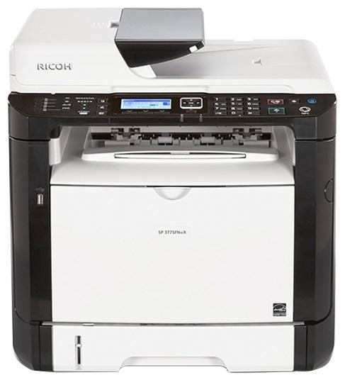 МФУ Ricoh SP 377SFNwX (картридж 6400стр.) (копир-принтер-сканер-факс, ADF, duplex, 28стр./мин., 1200x600dpi, LAN, WiFi, A4)